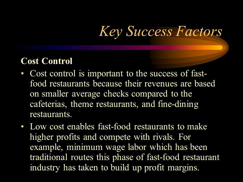 Key Success Factor For Fast Food Restaurant