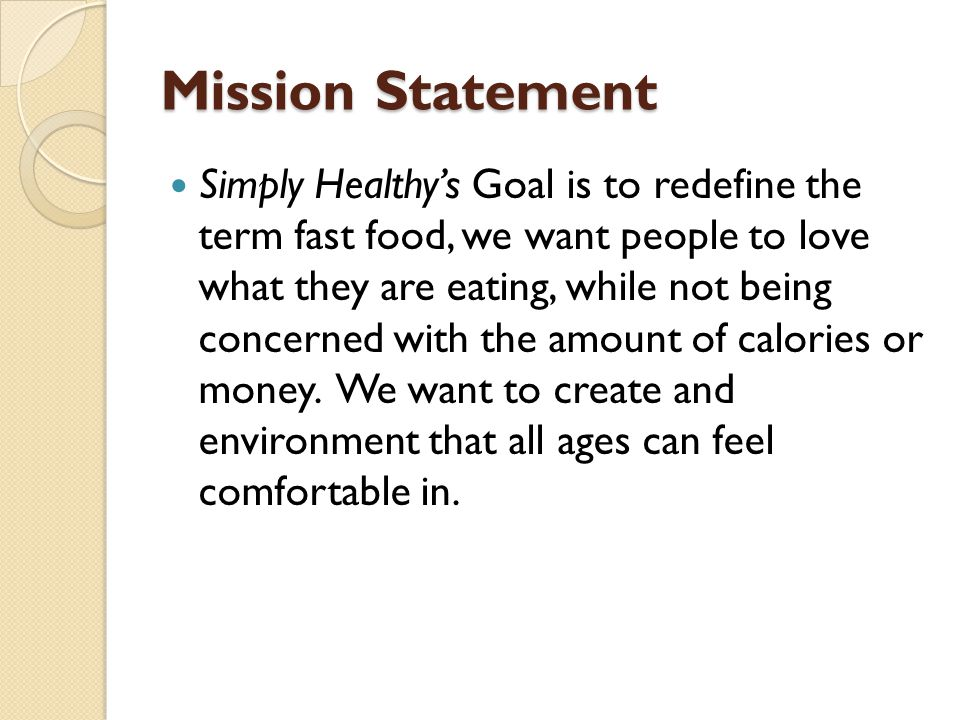 healthy food business plan
