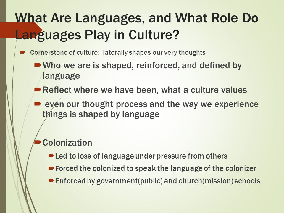 how does language reflect culture