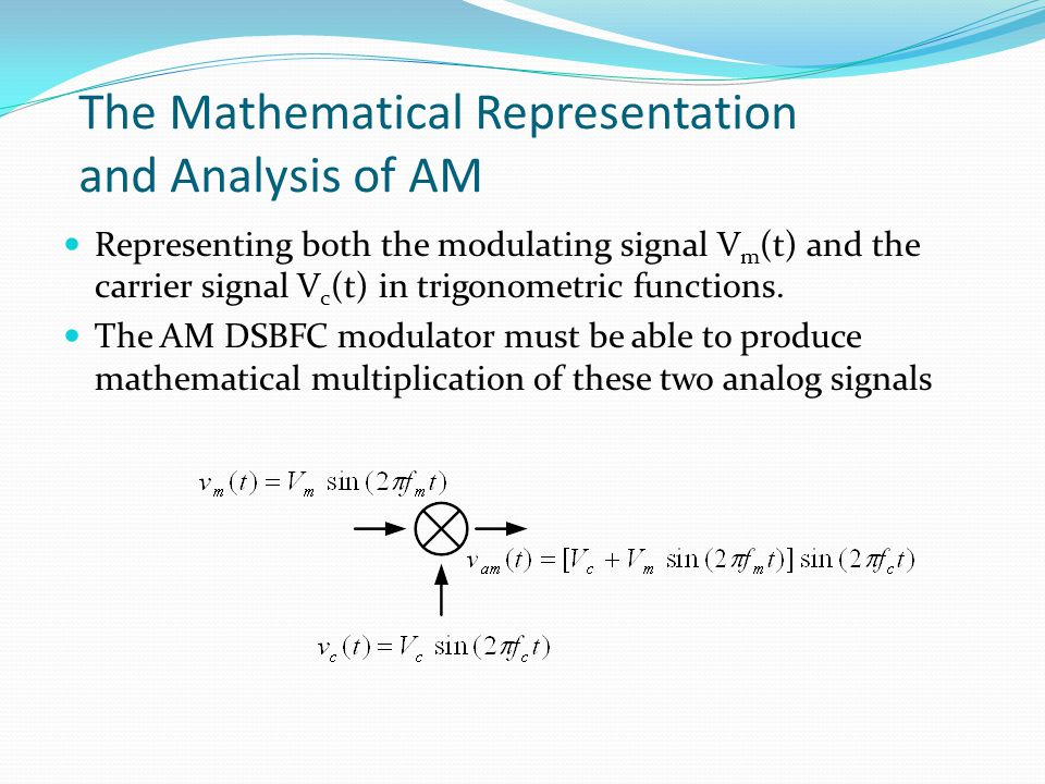 The Mathematical Representation and Analysis of AM