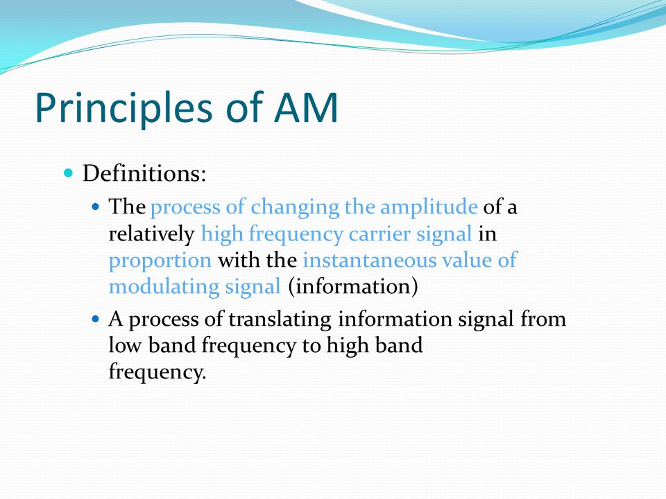 Principles of AM Definitions: