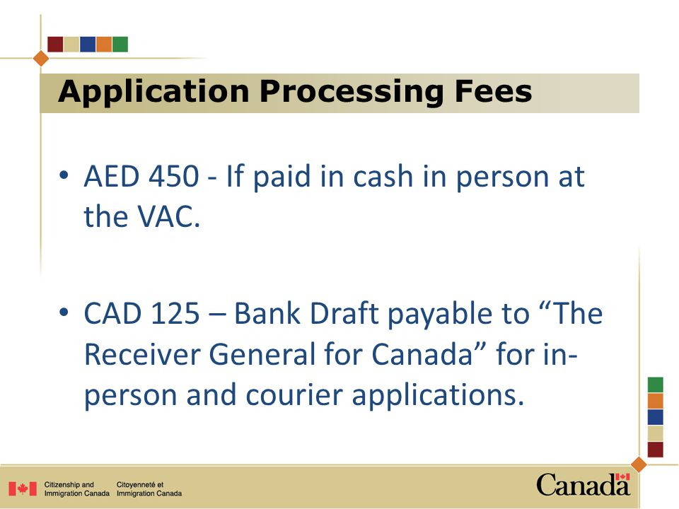 Application Processing Fees