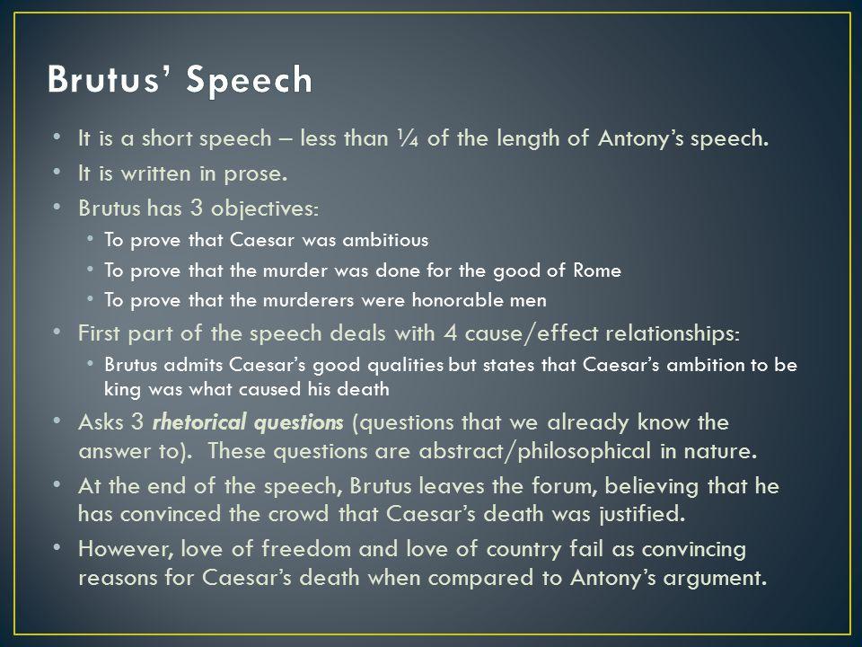 et tu brutus speech