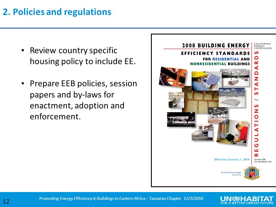 2. Policies and regulations