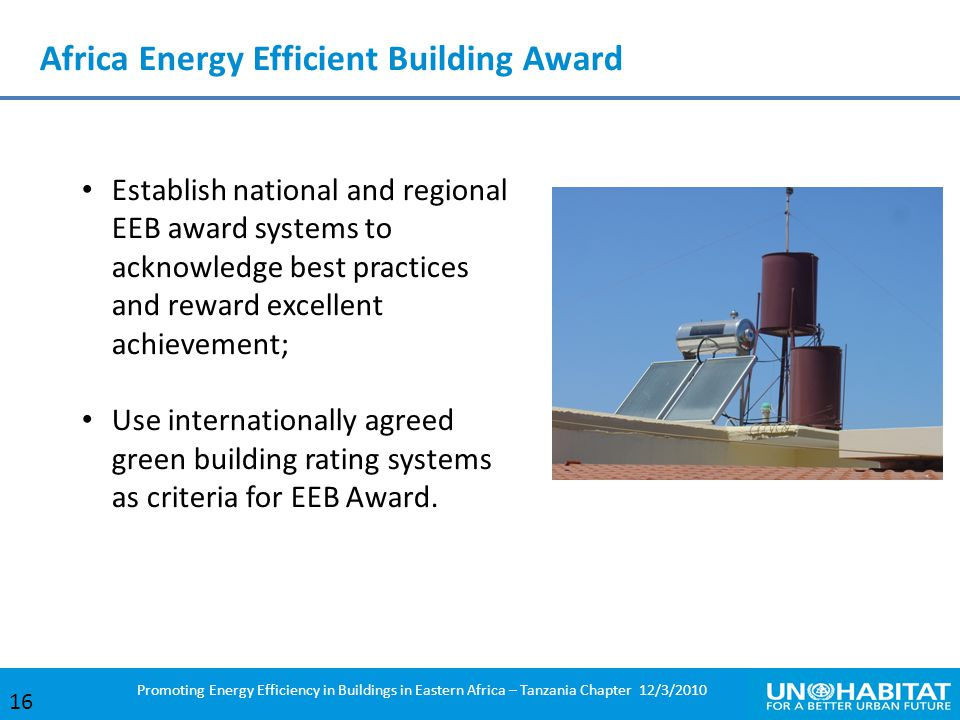 Africa Energy Efficient Building Award