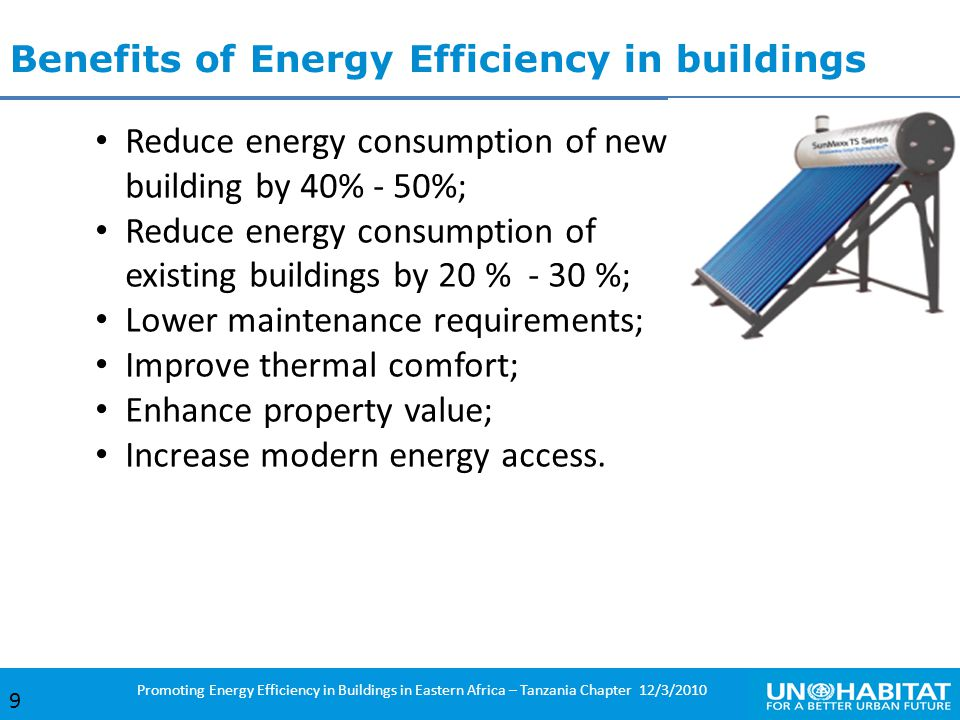 Benefits of Energy Efficiency in buildings