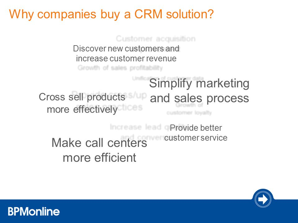 Why companies buy a CRM solution