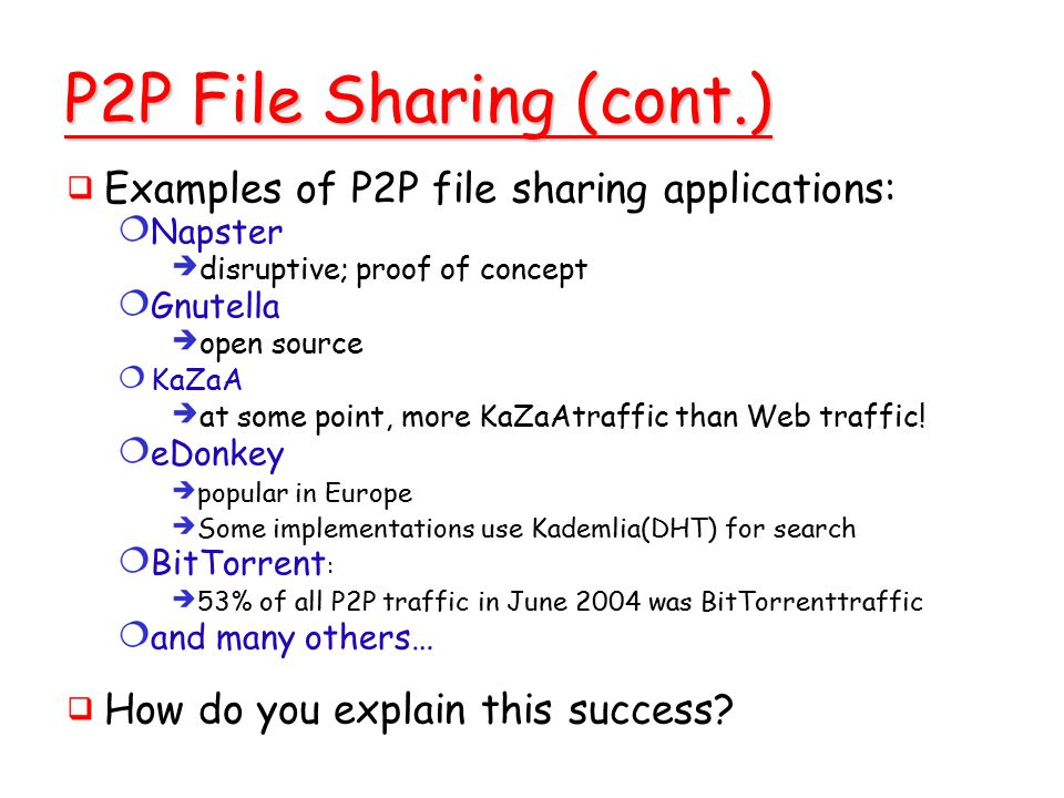 An example for hybrid p2p file-sharing network topology (ñ ò ½ ¼ ¼.