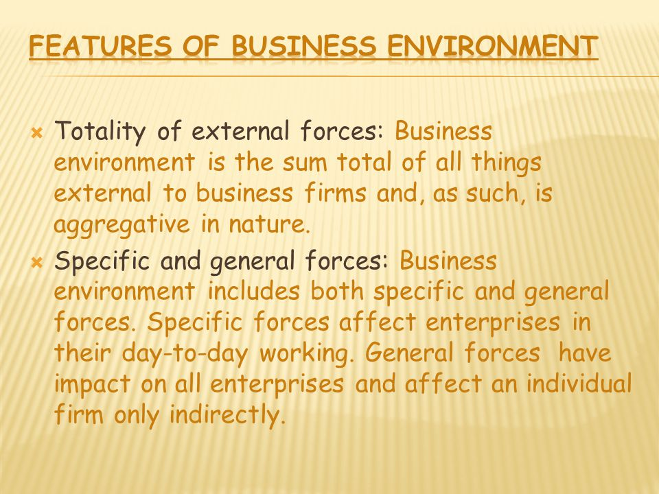 internal and external forces in business