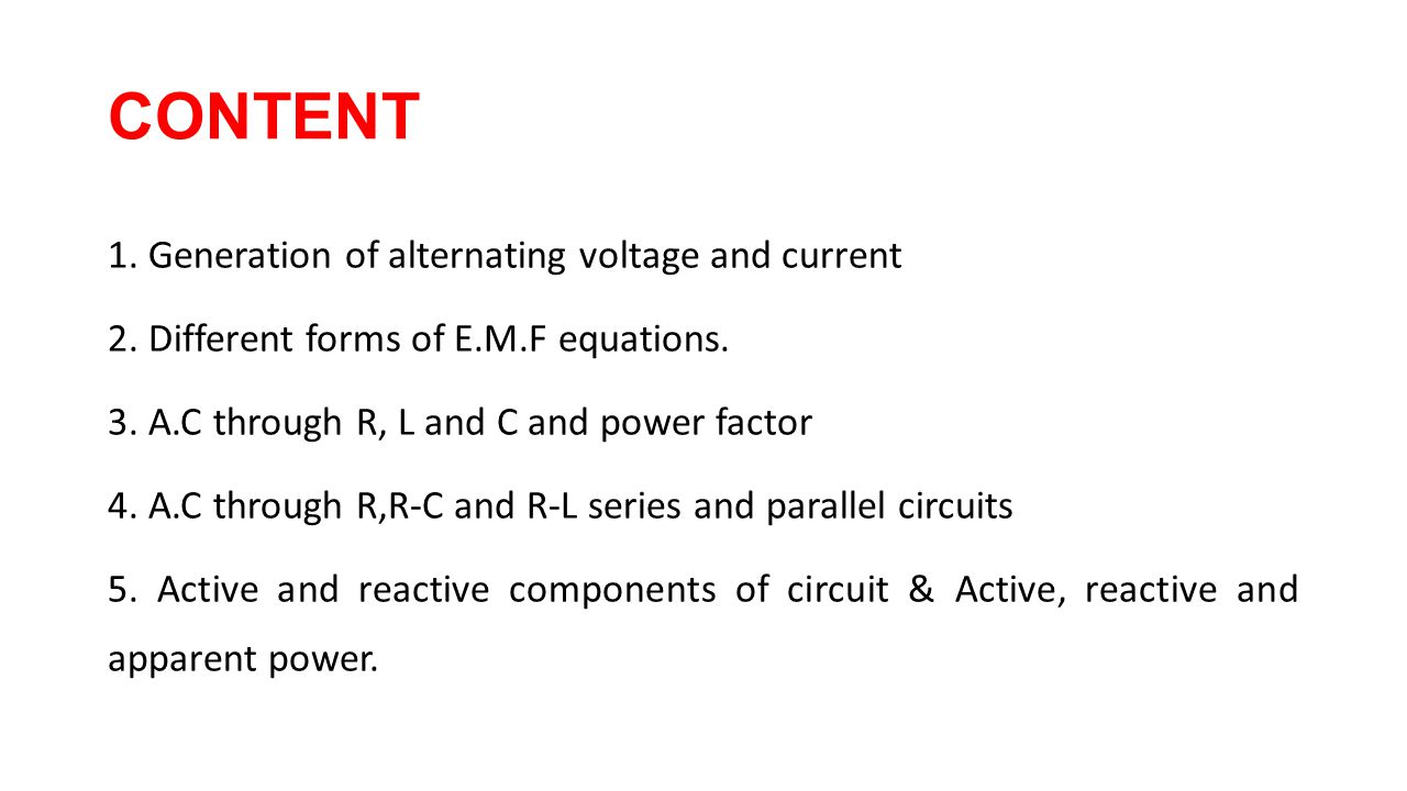 Single Phase Ac Circuits Ppt Video Online Download Image For Series And Parallel Rl Rc With An Source A Generation Of Alternating Voltage Current