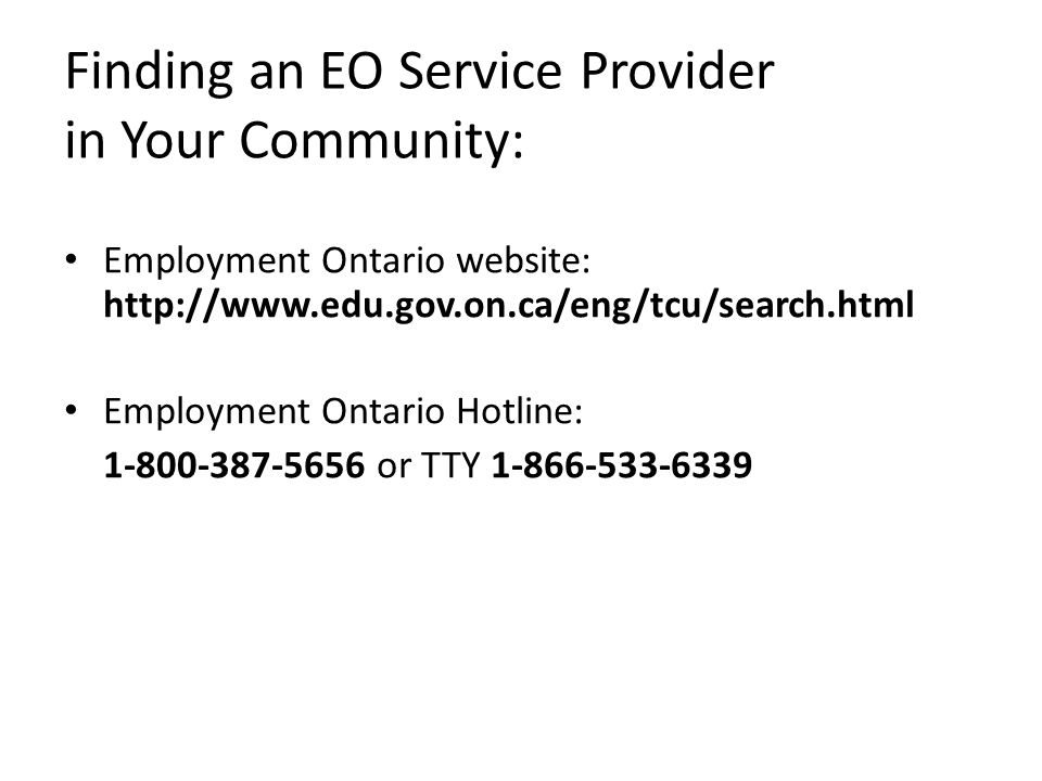 Finding an EO Service Provider in Your Community: