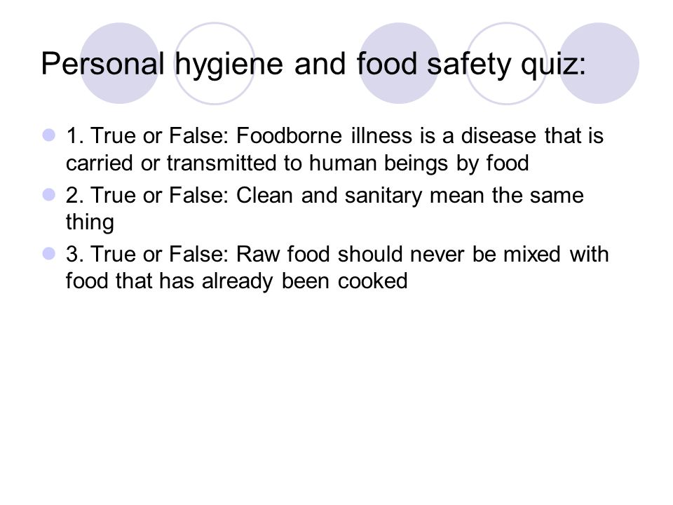 Food Safety And Personal Hygiene Ppt Video Online Download