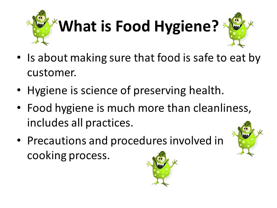 BASIC INTRODUCTION TO FOOD HYGIENE & SAFETY - ppt video online download