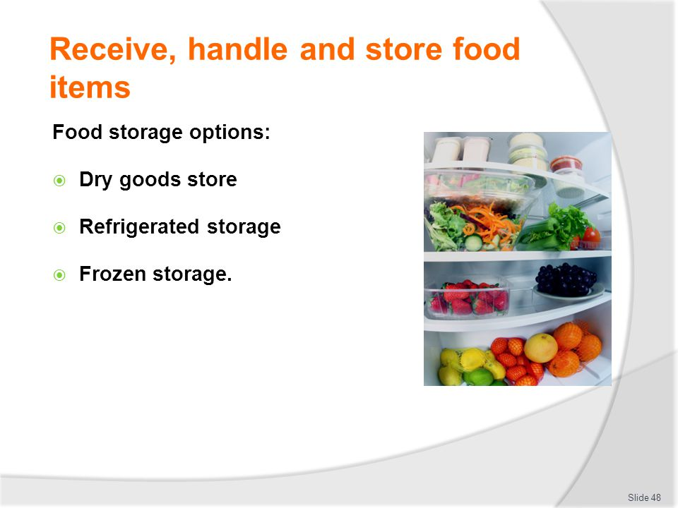 Receive handle and store food items  sc 1 st  SlidePlayer & COMPLY WITH WORKPLACE HYGIENE PROCEDURES - ppt download