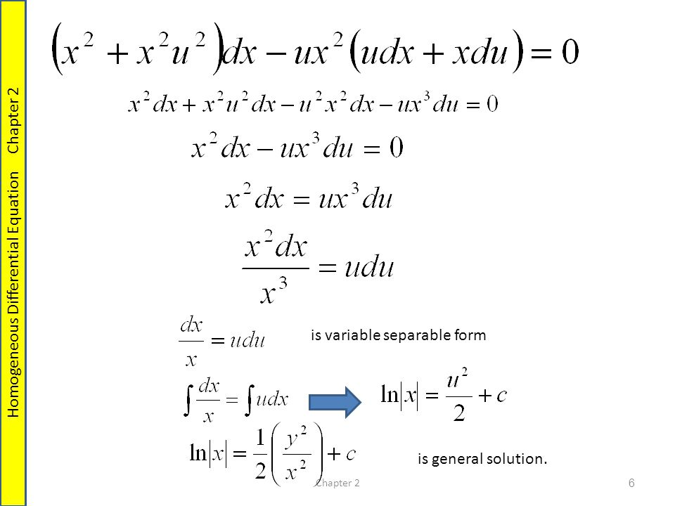Method Homogeneous Equations Reducible to separable  - ppt