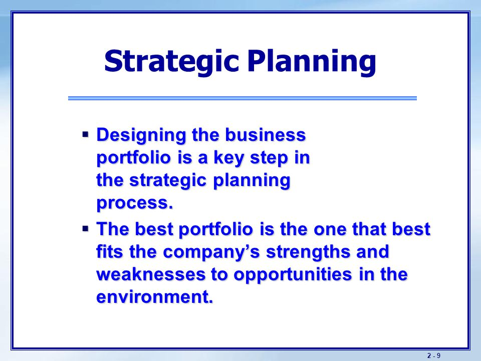 The Business Portfolio