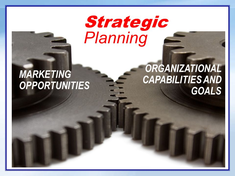 Strategic Planning Strategic planning is defined as: