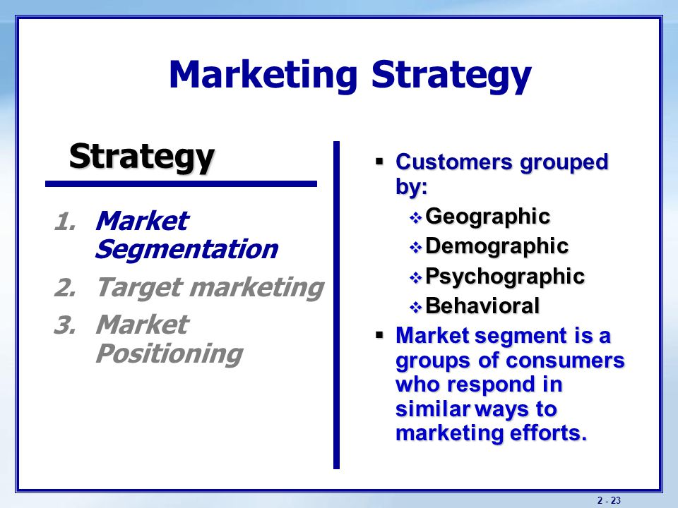 Marketing Strategy Strategy