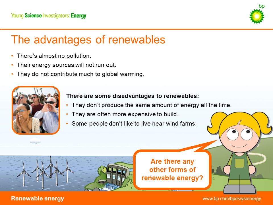 The advantages of renewables