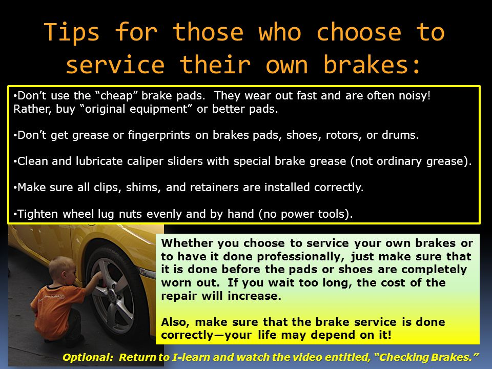 Cheap Brake Service >> Lesson 7 Brakes Suspension Systems Ppt Video Online Download