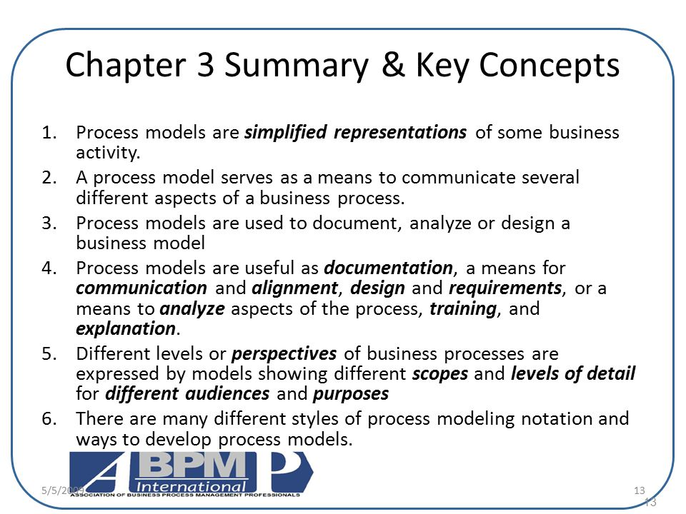 Chapter 3 Summary & Key Concepts