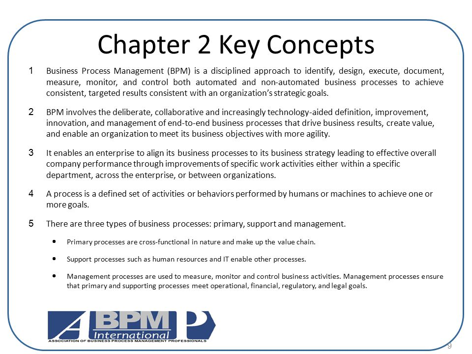 Chapter 2 Key Concepts