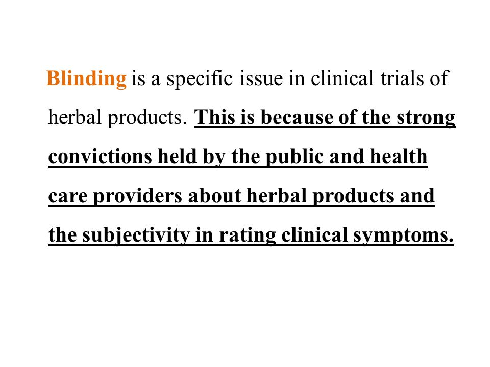 blinding in clinical trials pdf
