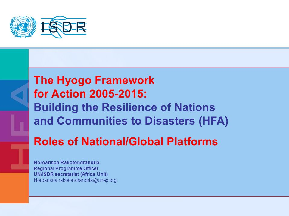 Roles of National/Global Platforms