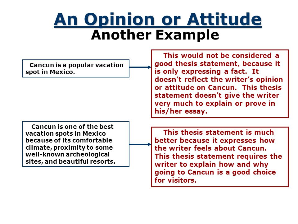 An Opinion or Attitude Another Example