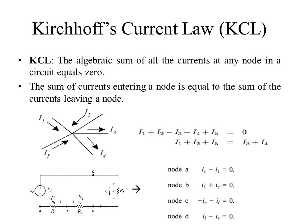 Kirchhoff's Current Law (KCL)