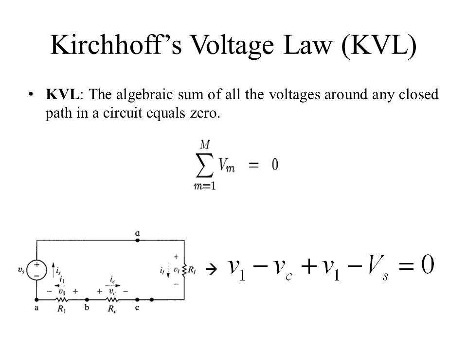 Kirchhoff's Voltage Law (KVL)