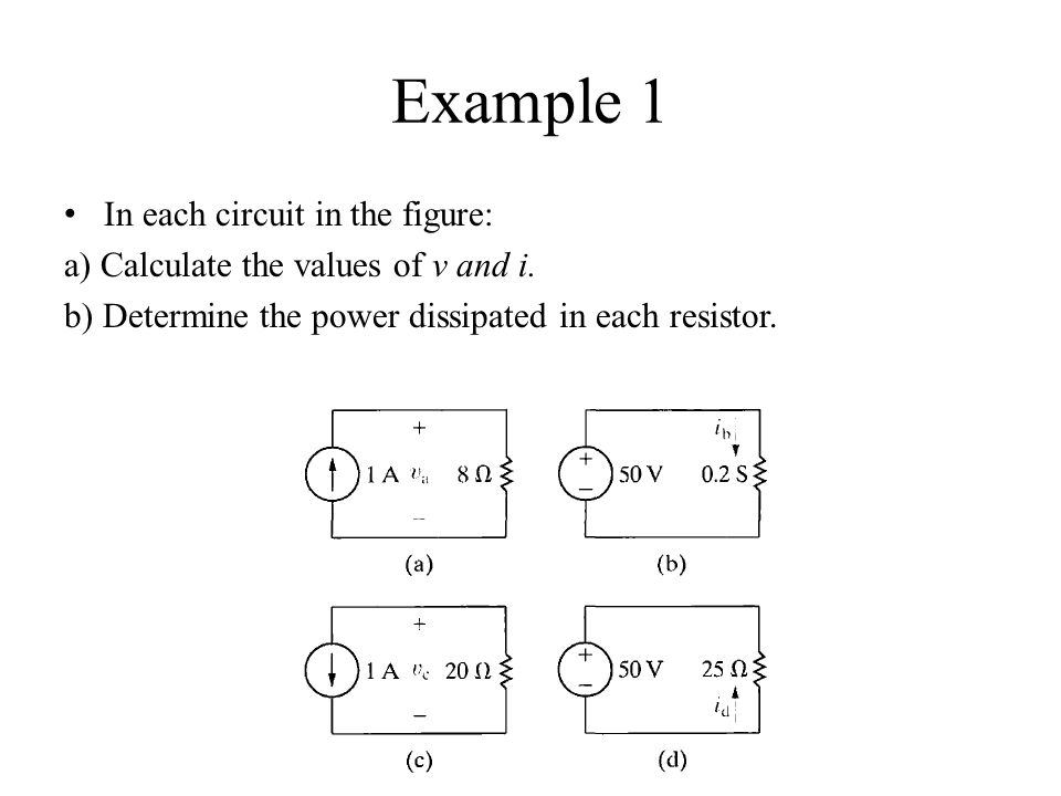 Example 1 In each circuit in the figure: