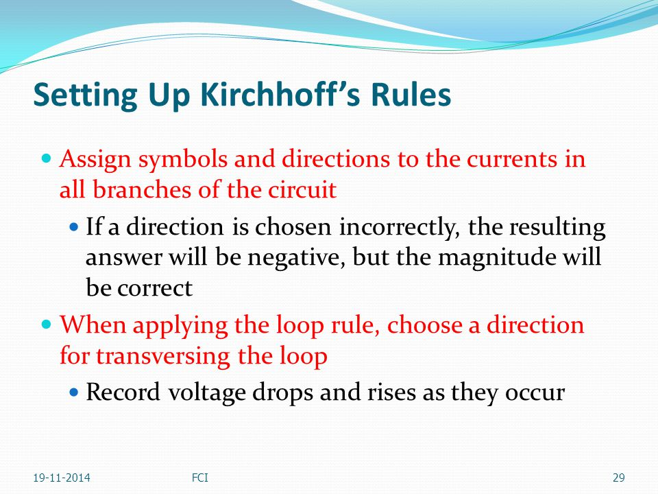 Setting Up Kirchhoff's Rules