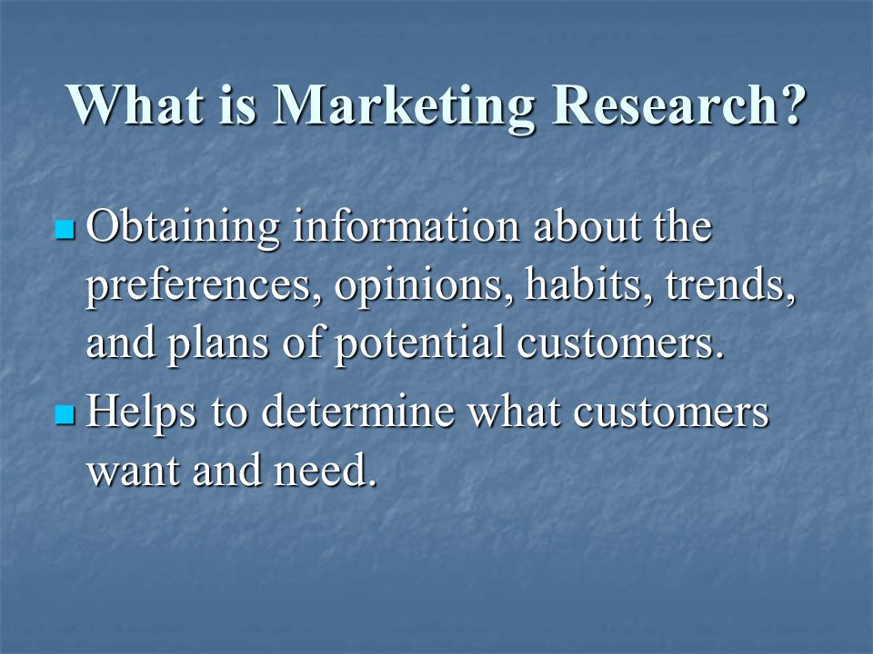 What is Marketing Research