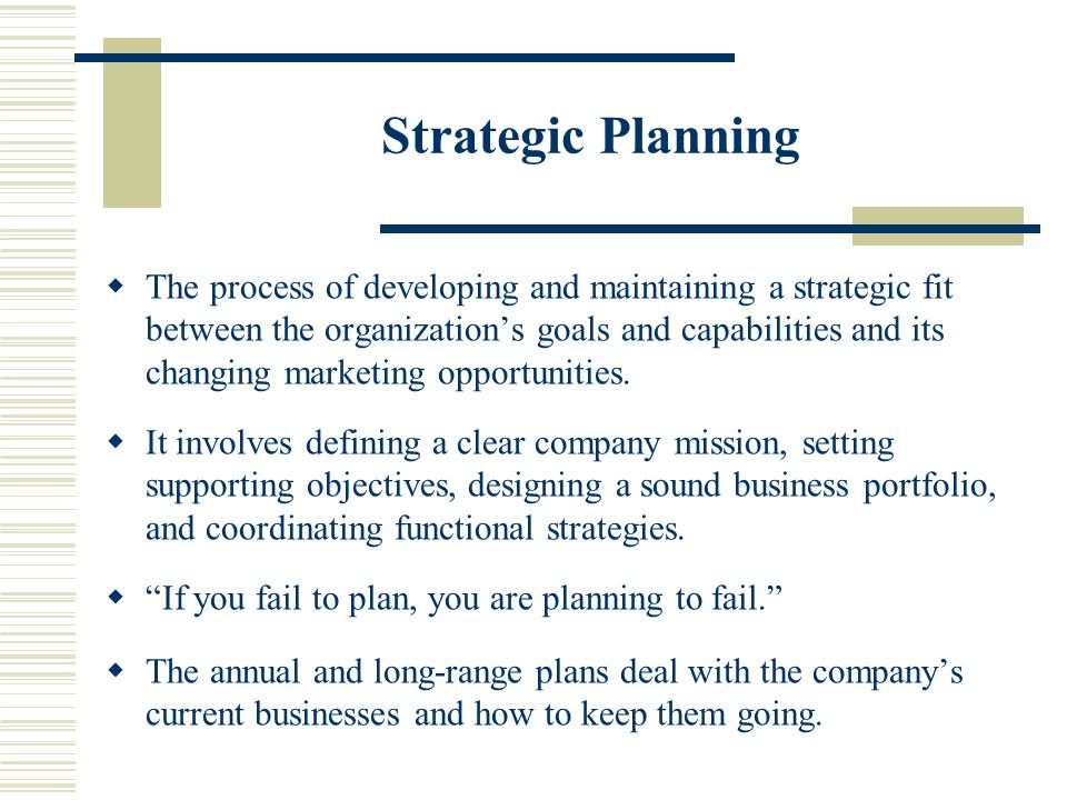 developing a strategic plan for a business
