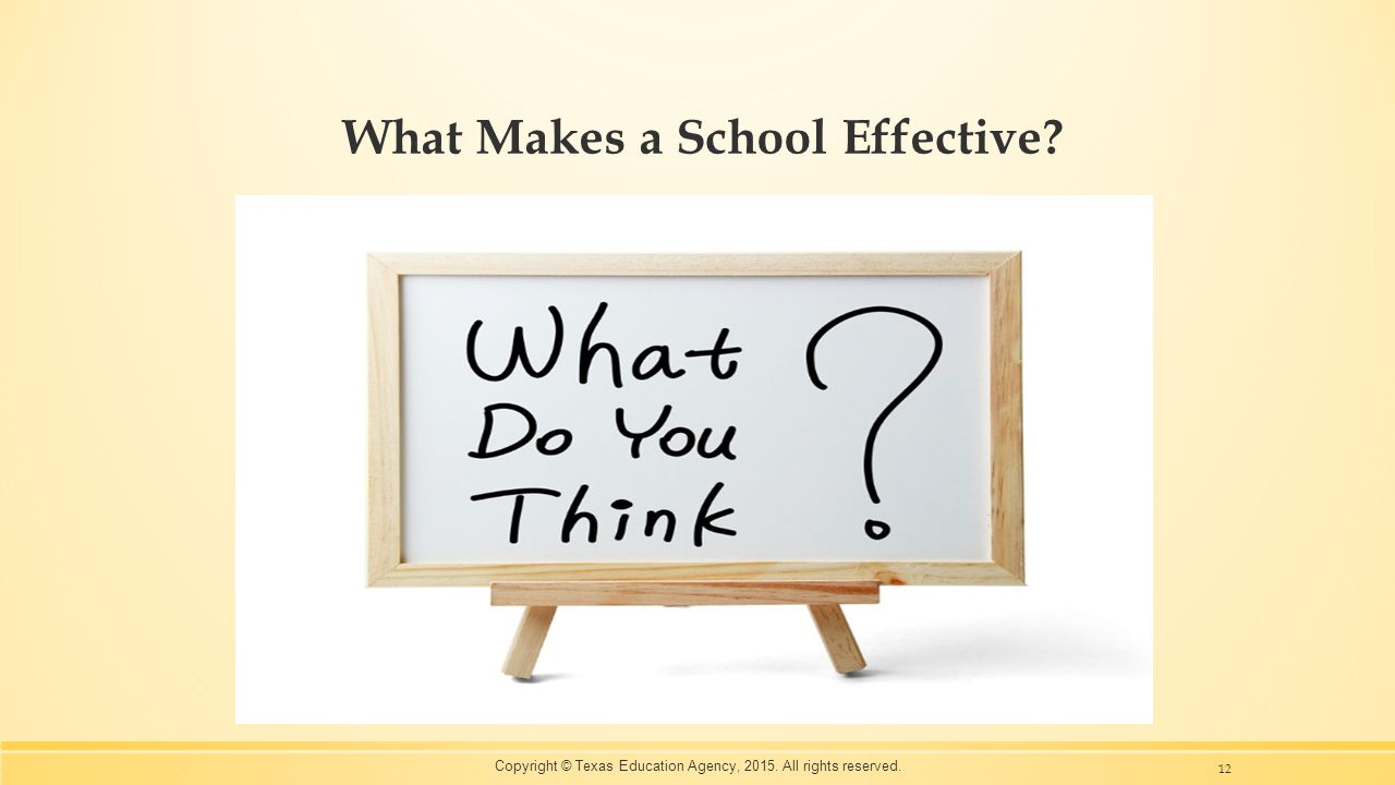 What Makes a School Effective