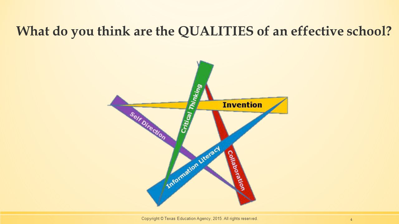 What do you think are the QUALITIES of an effective school