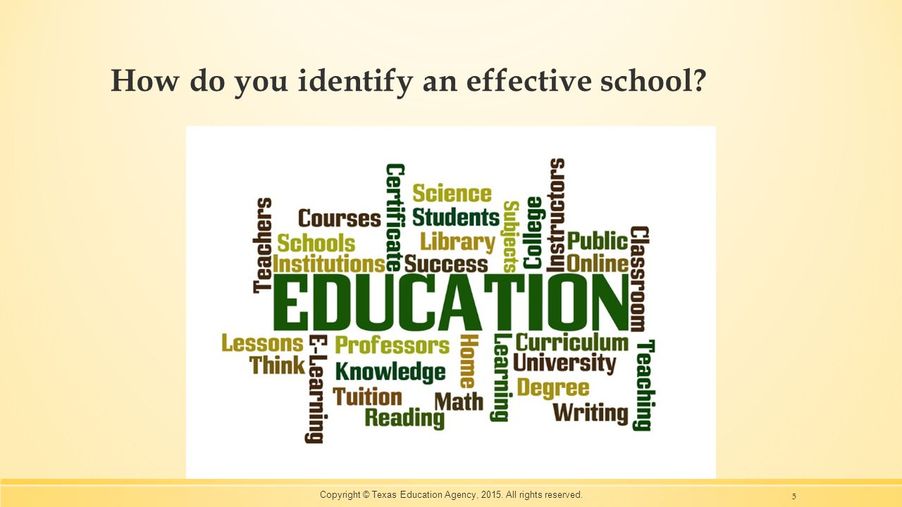 How do you identify an effective school