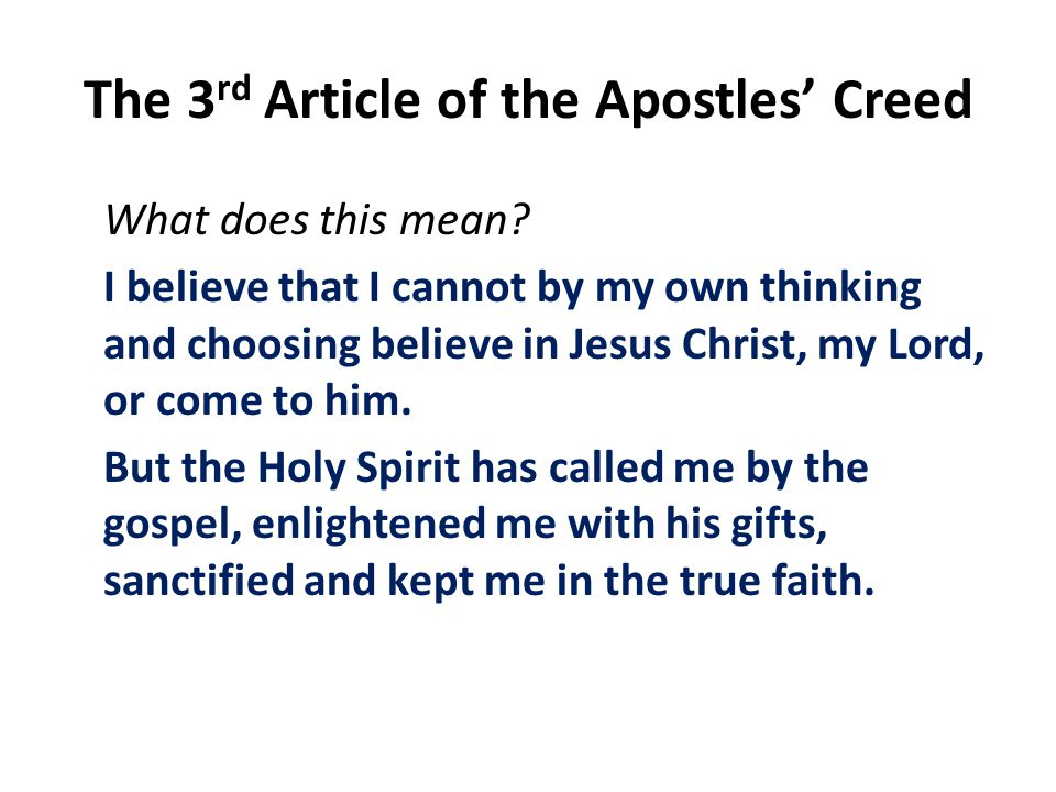 what is the apostles creed and what does it mean?