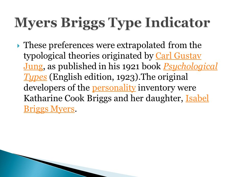 Myers-Briggs Type Indicator-Personality Tests Through