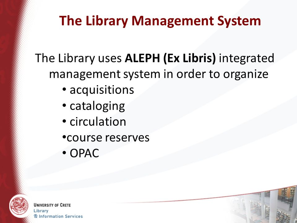The Library Management System
