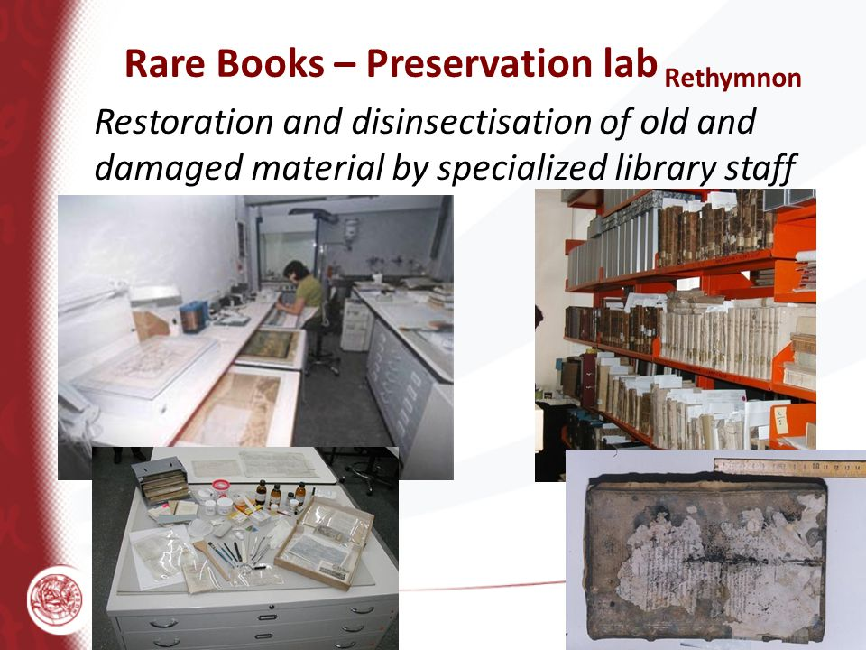 Rare Books – Preservation lab Rethymnon