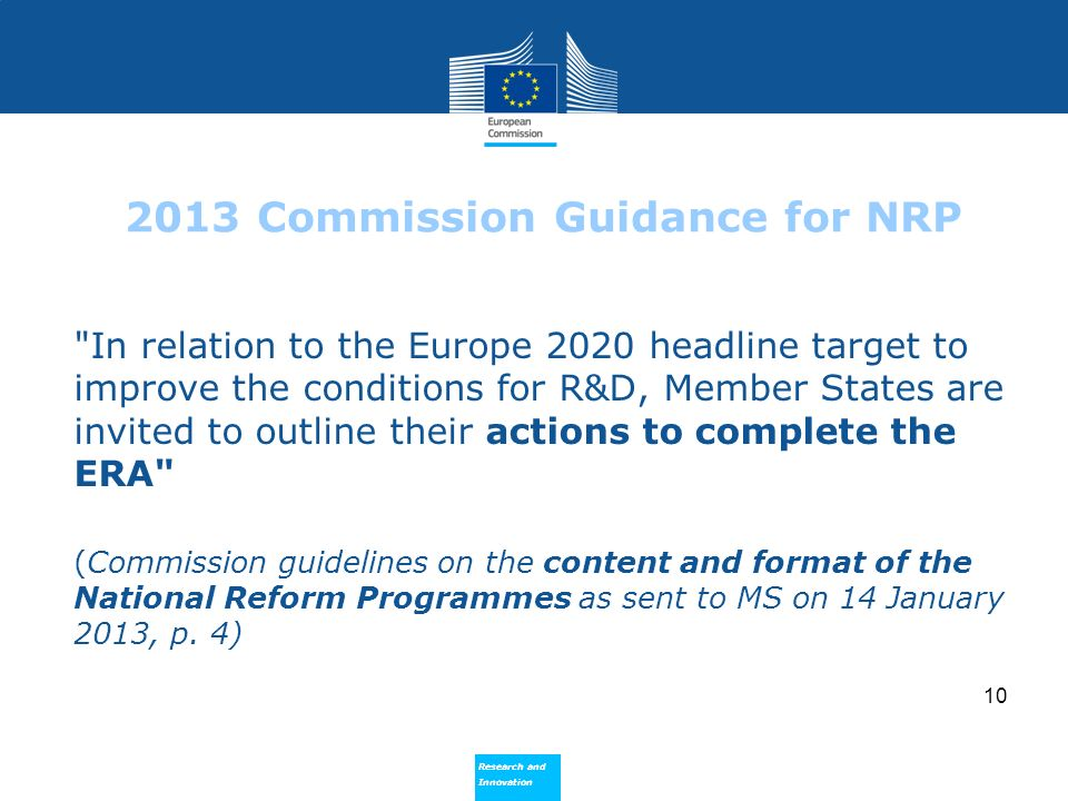 2013 Commission Guidance for NRP
