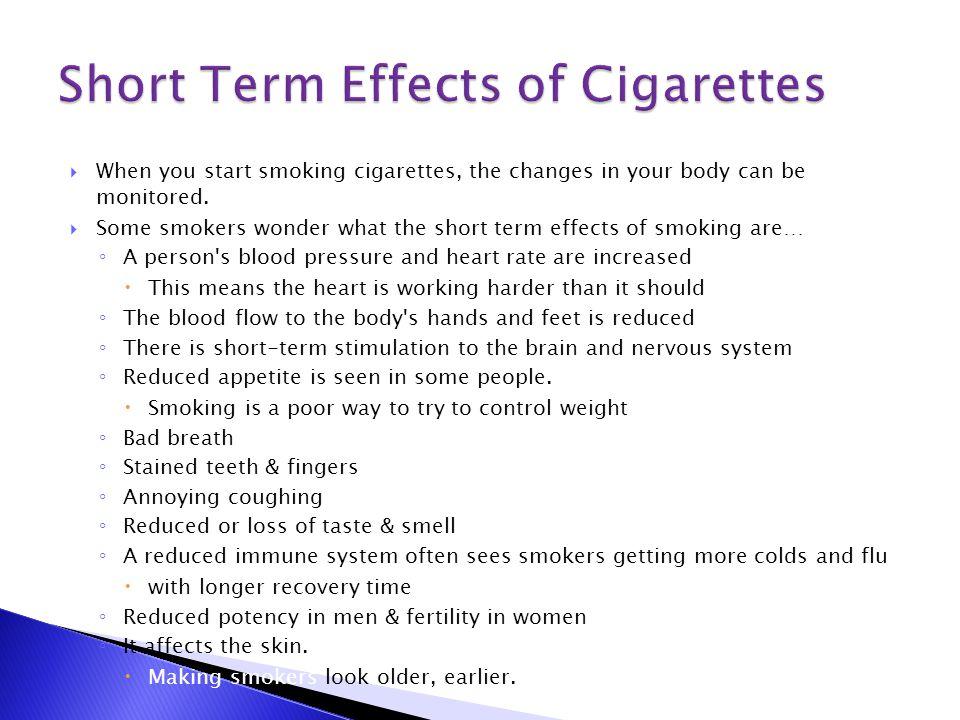 Long Term Effects Of Smoking >> The Short Long Term Effects Of Smoking Ppt Video Online Download