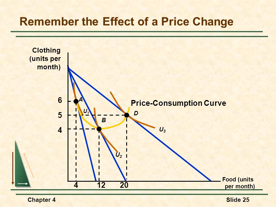 Remember the Effect of a Price Change
