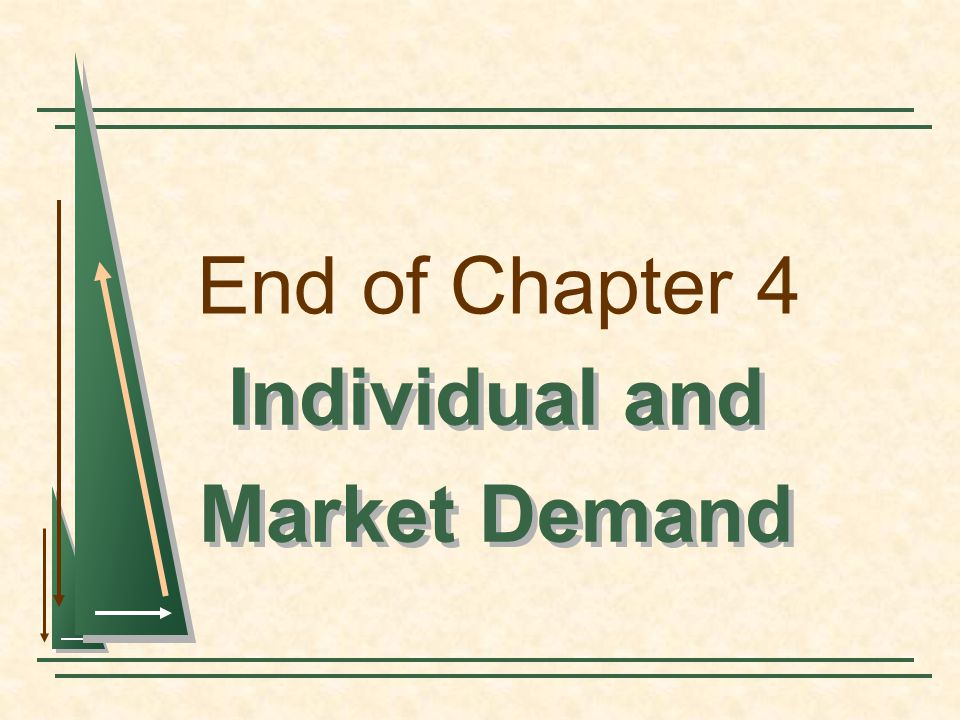 Individual and Market Demand