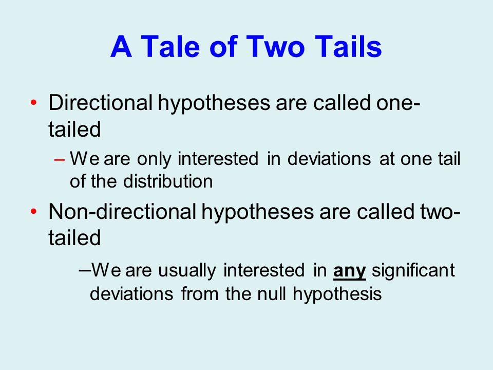 one tailed and two tailed test pdf