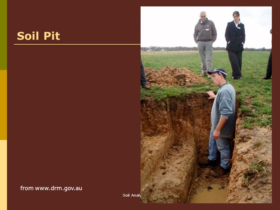 Soil Pit from   Soil Analysis Ch 8