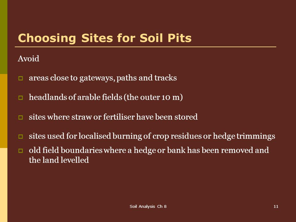 Choosing Sites for Soil Pits