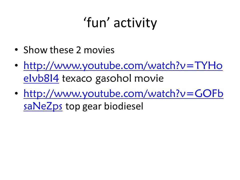 'fun' activity Show these 2 movies